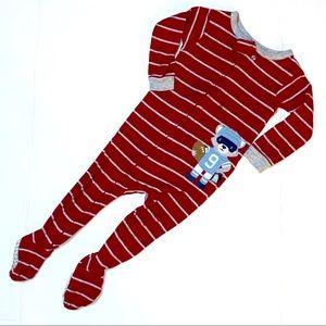 4/$20 Carters Raccoon Football Pajamas 12M